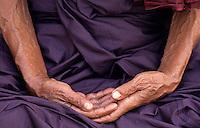 Monk meditating,