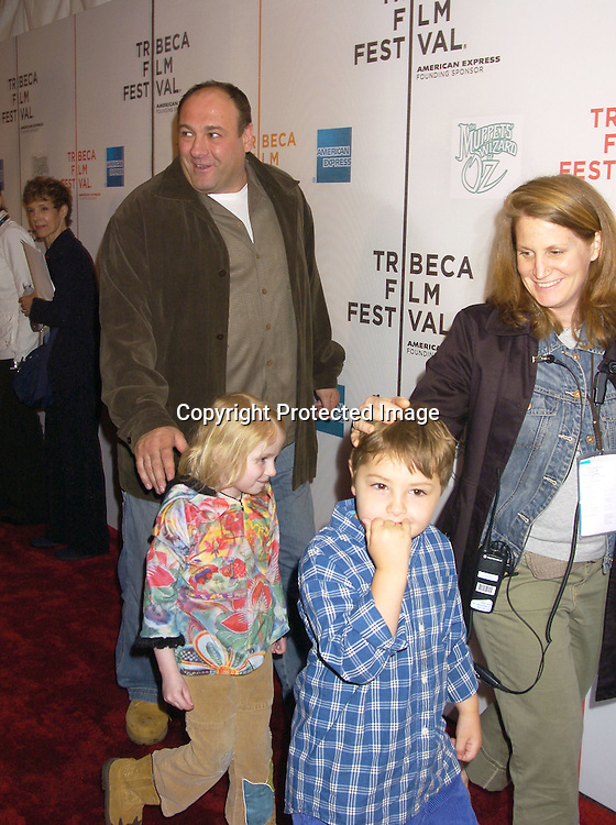 "James Gandolfini ..at the Tribeca Family Festival World Premiere of ""The Muppets'  Wizard of Oz"" on April 27, 2005 at The Tribeca ..Performing Arts Center. ..Photo by Robin Platzer, Twin Images......"