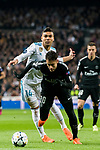 Neymar da Silva Santos Junior, Neymar Jr (R), of Paris Saint Germain fights for the ball with Carlos Henrique Casemiro of Real Madrid during the UEFA Champions League 2017-18 Round of 16 (1st leg) match between Real Madrid vs Paris Saint Germain at Estadio Santiago Bernabeu on February 14 2018 in Madrid, Spain. Photo by Diego Souto / Power Sport Images