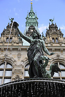 Hamburg statue in the fountain