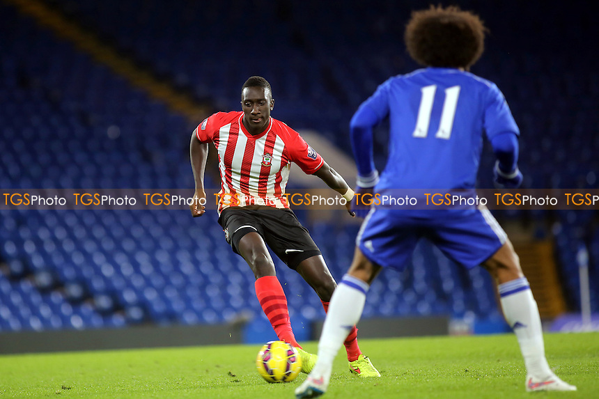 Bevis Mugabi of Southampton in possession - Chelsea Under-21 vs Southampton Under-21 - Barclays Under-21 Premier League Football at Stamford Bridge, Chelsea FC, London - 02/02/15 - MANDATORY CREDIT: Paul Dennis/TGSPHOTO - Self billing applies where appropriate - contact@tgsphoto.co.uk - NO UNPAID USE