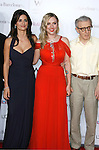 """Actresses Penelope Cruz, Scarlett Johannson and Director Woody Allen arrive at The Los Angeles Premiere of """"Vicky Cristina Barcelona"""" at the Mann Village Theatre on August 4, 2008 in Westwood, California."""