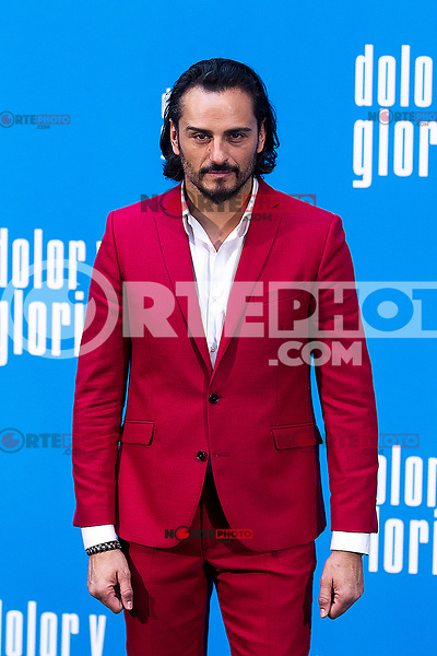 The actor Asier Etxeandia   attends the photocall of the movie 'Dolor y gloria' in Villa Magna Hotel, Madrid 12th March 2019. (ALTERPHOTOS/Alconada) /NortePhoto.con NORTEPHOTOMEXICO