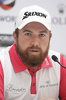 Shane Lowry (IRL) speaking during his press conference ahead of the DP World Tour Championship, Earth Course, Jumeirah Golf Estates, Dubai, UAE.  18/11/2015.<br /> Picture: Golffile | Fran Caffrey<br /> <br /> <br /> All photo usage must carry mandatory copyright credit (© Golffile | Fran Caffrey)
