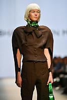 7 September 2017, Melbourne - Model parades design by RMIT student Abhaya Aullen Mistry during the Melbourne Fashion Week in Melbourne, Australia. (Photo Sydney Low / asteriskimages.com)