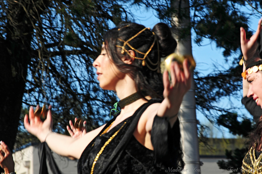 A Procession of the Species participant entertains the crowd in Olympia, Washington.