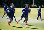 17.05.2019 Rangers training: Daniel Candeias and Dapo Mebude