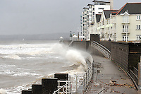 2014 02 05 Severe weather affecting Swansea and Caswell, south Wales, UK