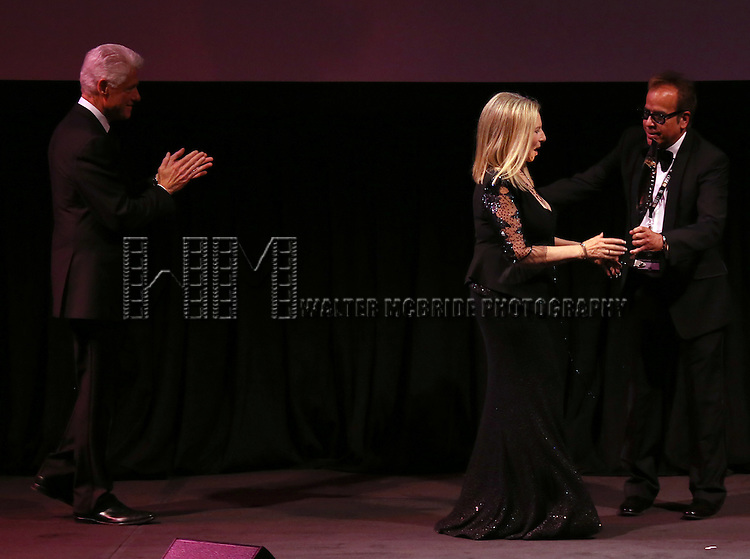Bill Clinton, Barbra Streisand & Richard Jay Alexander   during the Presentation for the 40th Annual Chaplin Award Gala Honoring Barbra Streisand at Avery Fisher Hall in New York City on 4/22/2013...