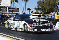 Feb. 22, 2013; Chandler, AZ, USA; NHRA pro stock driver Vincent Nobile during qualifying for the Arizona Nationals at Firebird International Raceway. Mandatory Credit: Mark J. Rebilas-