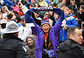 A supporter of President Donald Trump cheers along the route of the inaugural parade on January 20, 2017 in Washington, D.C.  Trump became the 45th President of the United States.        <br /> Credit: Kevin Dietsch / Pool via CNP