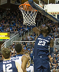 Utah State center Neemias Queta (23) dunks the ball against Nevada in the second half of an NCAA college basketball game in Reno, Nev.,  Wednesday, Jan. 2, 2019. (AP Photo/Tom R. Smedes)
