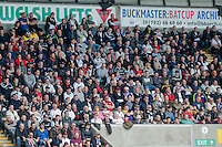 SWANSEA, WALES - APRIL 04: Swansea City fans during the Premier League match between Swansea City and Hull City at Liberty Stadium on April 04, 2015 in Swansea, Wales.  (photo by Athena Pictures)