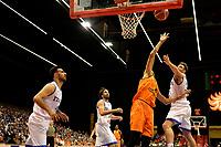 GRONINGEN - Basketbal, Nederland - Italie, WK kwalificatie 2019, Martiniplaza, 01-07-2018 Leon Williams  op weg naar score
