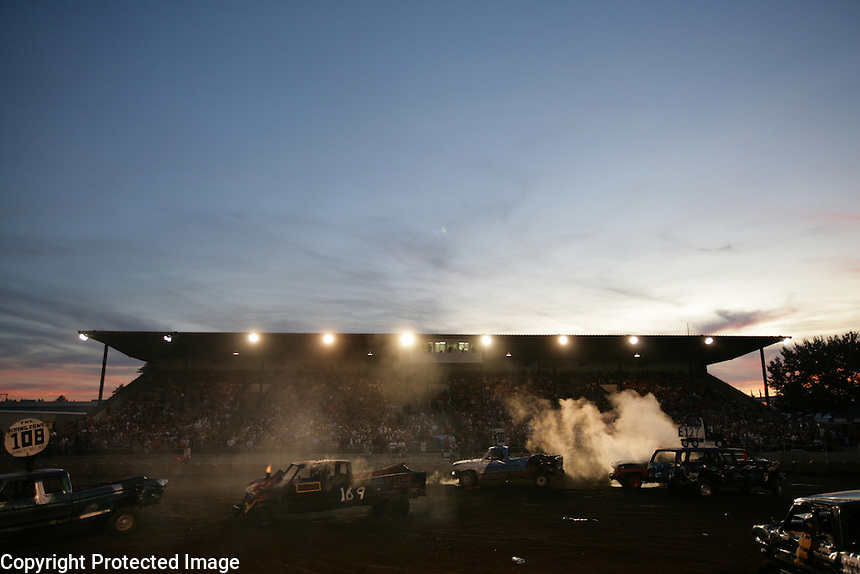 Demolition Derby at the NW Washington Fair. August 17, 2009 PHOTOS BY MERYL SCHENKER