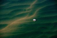 Europe/France/Aquitaine/33/Gironde/Bassin d'Arcachon: navigation à Voile  sur les hauts fonds aux environs du Banc d'Arguin - réserve naturelle - vue aérienne