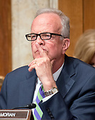 United States Senator Jerry Moran (Republican of Kansas) listens as Jay Clayton, Chairman, US Securities and Exchange Commission, and J. Christopher Giancarlo, Acting Chairman, Commodity Futures Trading Commission, testify before the US Senate Committee on Appropriations Subcommittee on Financial Services and General Government hearing to examine proposed budget estimates and justification for fiscal year 2018 for the SEC and the CFTC on Capitol Hill in Washington, DC on Tuesday, June 27, 2017.<br /> Credit: Ron Sachs / CNP