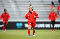 Boyds, MD - Saturday May 6, 2017: Crystal Thomas prior to a regular season National Women's Soccer League (NWSL) match between the Washington Spirit and Sky Blue FC at Maureen Hendricks Field, Maryland SoccerPlex.