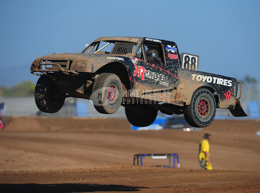 Apr 16, 2011; Surprise, AZ USA; LOORRS driver Austin Kimbrell (88) during round 3 at Speedworld Off Road Park. Mandatory Credit: Mark J. Rebilas-.