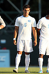 14 August 2015: North Carolina's Colton Storm. The University of North Carolina Tar Heels hosted the Winthrop University Eagles at Fetzer Field in Chapel Hill, NC in a 2015 NCAA Division I Men's Soccer preseason exhibition. North Carolina won the game 4-1.