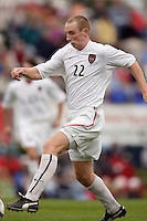 Tim Regan of the MetroStars. The MetroStars defeated the Chicago Fire 2-0 during the inaugural Hall of Fame game on Monday October 11, 2004 at At-A-Glance Field at the National Soccer Hall of Fame and Museum, Oneonta, NY..