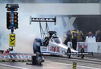 Sep 16, 2016; Concord, NC, USA; NHRA top fuel driver Richie Crampton during qualifying for the Carolina Nationals at zMax Dragway. Mandatory Credit: Mark J. Rebilas-USA TODAY Sports