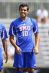 04 September 2011: SMU's Arthur Ivo (BRA). The Southern Methodist University Mustangs defeated the Duke University Blue Devils 1-0 in overtime at Koskinen Stadium in Durham, North Carolina in an NCAA Division I Men's Soccer game.