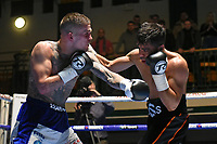 Sanjeev Sahota (black shorts) defeats Kane Baker during a Boxing Show at York Hall on 2nd March 2018