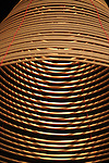 Bao-jhong Yi-min Temple, Kaohsiung -- Repetitive pattern of an incense coil in a Taiwanese temple.