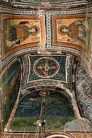 Demetrios,Nestor,wall-painting,South-west chapel,Katholikon Church of St. Luke,11th Century,Osios Loukas Monastery,Greece