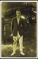 BNPS.co.uk (01202 558833)<br /> Pic: Pen&amp;Sword/BNPS<br /> <br /> Pilot Officer George Gibson Macaulay played in eight tests and made 468 first class appearances he was a RAF Volunteer Reserve and died 13 December 1940, aged 43.<br /> <br /> The tragic stories of the 10 test players and 130 first class cricketers who lost their lives in the Second World War are told in a fascinating new book.<br /> <br /> The outbreak of the war prompted cricketers to swap their whites for uniform and pitch up at the various battlegrounds of the conflict to do their duty.<br /> <br /> Many cricketers excelled themselves in combat - distinguishing themselves with their bravery and their intelligence.<br /> <br /> In The Coming Storm, screenwriter Nigel McCrery reveals each man's career details, including cricketing statistics and the circumstances of death.