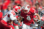 Wisconsin Badgers wide receiver Jordan Abbrederis (4) carries the ball during an NCAA college football game against the Austin Peay Governors on September 25, 2010 at Camp Randall Stadium in Madison, Wisconsin. The Badgers beat the Governors 70-3. (Photo by David Stluka)
