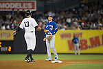 Alex Rodriguez (Yankees), Troy Tulowitzki (Blue Jays),<br /> AUGUST 7, 2015 - MLB :<br /> Alex Rodriguez of the New York Yankees and Troy Tulowitzki of the Toronto Blue Jays during the Major League Baseball game at Yankee Stadium in the Bronx, New York, United States. (Photo by Thomas Anderson/AFLO) (JAPANESE NEWSPAPER OUT)