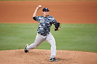 Tampa Yankees starting pitcher Brody Koerner (26) delivers a pitch during the second game of a doubleheader against the Bradenton Marauders on June 14, 2017 at LECOM Park in Bradenton, Florida.  Tampa defeated Bradenton 5-1.  (Mike Janes/Four Seam Images)