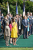 Washington DC, August 2, 2016, USA:President Barack Obama and First Lady Michelle Obama welcome Prime Minister Lee Hsien Loong of Singapore, to the White House for an official visit. First Lady Michelle Obama and Mrs. Lee Hsien Loong stand at attention when US Anthem is played.  Patsy Lynch/MediaPunch