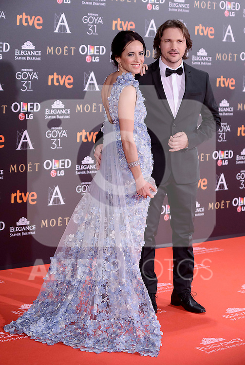 Ana Turpi and Carlos Castel attends to the Red Carpet of the Goya Awards 2017 at Madrid Marriott Auditorium Hotel in Madrid, Spain. February 04, 2017. (ALTERPHOTOS/BorjaB.Hojas)