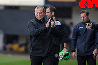 Newport County manager Warren Feeney ahead of the Sky Bet League 2 match between Newport County and Barnet at Rodney Parade, Newport, Wales on 3 September 2016. Photo by Mark  Hawkins / PRiME Media Images.
