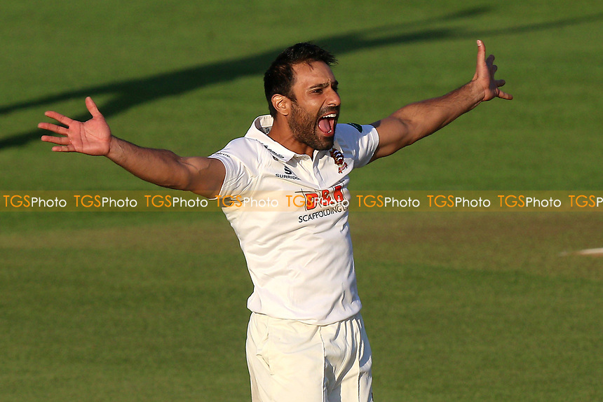 Ravi Bopara of Essex with an appeal for a wicket during Essex CCC vs Durham MCCU, English MCC University Match Cricket at The Cloudfm County Ground on 2nd April 2017