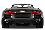Straight rear view of a 2010 - 2012 Audi R8 Spyder v10 2 Door Convertible.