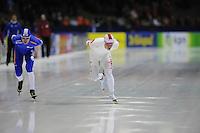 SCHAATSEN: HEERENVEEN: Thialf, KPN NK Allround, 04-02-2012, 5000m Heren, Frank Hermans, Koen Verweij, ©foto: Martin de Jong