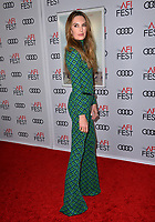 "LOS ANGELES, CA. November 08, 2018: Elizabeth Chambers at the AFI Fest 2018 world premiere of ""On the Basis of Sex"" at the TCL Chinese Theatre.<br /> Picture: Paul Smith/Featureflash"