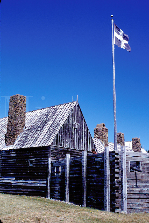 Nova Scotia, Annapolis Royal, NS, Canada, Port Royal National Historic Site-The Habitation in Annapolis Royal.