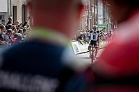 Michael Matthews (AUS/Sunweb) wins the stage. <br /> <br /> Binckbank Tour 2018 (UCI World Tour)<br /> Stage 7: Lac de l'eau d'heure (BE) - Geraardsbergen (BE) 212.7km