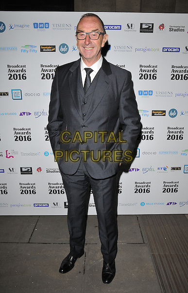 David Lloyd attends the Broadcast Awards 2016, Grosvenor House Hotel, Park Lane, London, UK, on Wednesday 10 February 2016.<br /> CAP/CAN<br /> &copy;Can Nguyen/Capital Pictures