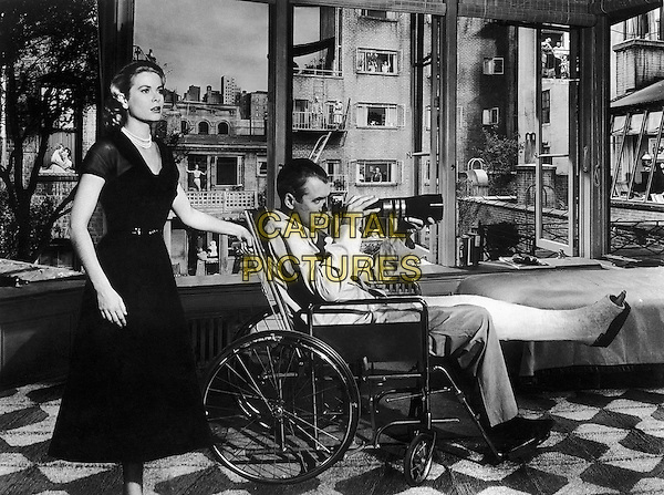 Grace Kelly & James Stewart .in Rear Window.*Filmstill - Editorial Use Only*.CAP/PLF.Supplied by Capital Pictures.