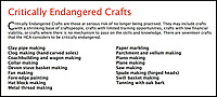 BNPS.co.uk (01202 558833)<br /> Pic: PhilYeomans/BNPS<br /> <br /> The Heritage Craft Association have released a 'Red list' of Britains most critically endagered crafts and craftsmen.<br /> <br /> The list highlights some age old skills that are in grave danger of becoming extinct in the country formely known as the 'Workshop of the World'.<br /> <br /> According to research carried out on behalf of the HCA, four crafts have become extinct in the UK in the past 10 years &ndash; cricket ball making, gold beating, lacrosse stick making and sieve and riddle making.<br /> <br /> A further 17 crafts are classified as 'critically endangered' since they have only a handful of practitioners and few have any trainees. <br /> <br /> These include saw making, hat block making, horse collar making, paper marbling, piano making and making wooden planes for furniture. <br /> <br /> However, there are artisans scattered around the country keeping these traditional crafts alive who have long waiting lists because there is still a demand for their very specialised skills.