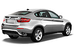 Passenger side rear three quarter view of a 2013 BMW X6 xDrive35i .
