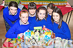 HEALTHY: Students of Presentation Secondary School in Milltown last Thursday with some of the products on offer during their Healthy Eating Week, front l-r: Aoife O'Connor, Leona Kane, Marie Burke. Back l-r: Sarah Sheehan, Laura O'Sullivan, Amy O'Sullivan.