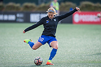 Boston, MA - Sunday May 07, 2017: Rosie White prior to warmups before a regular season National Women's Soccer League (NWSL) match between the Boston Breakers and the North Carolina Courage at Jordan Field.