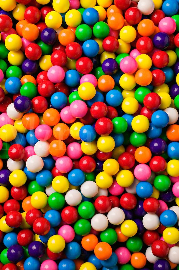 Assorted gum balls